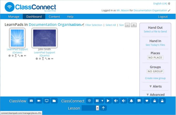 ClassConnect iPad handout screenshot
