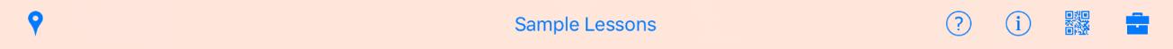 iPad ClassConnect sample lesson title bar