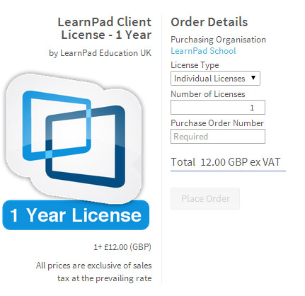 iPad Learnpad ClassConnect licence