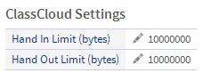 LearnPad ClassCloud settings screenshot