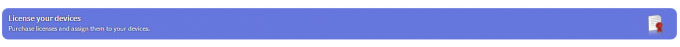 LearnPad device license header bar